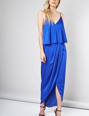 dresses Doris Long Satin Dress