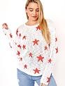 Knit Crew Neck Star Sweater