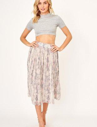 Snake Midi Skirt