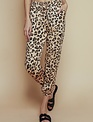 Satin Leopard Drawstring Pant