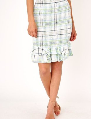 Aurelia  Plaid Midi Skirt