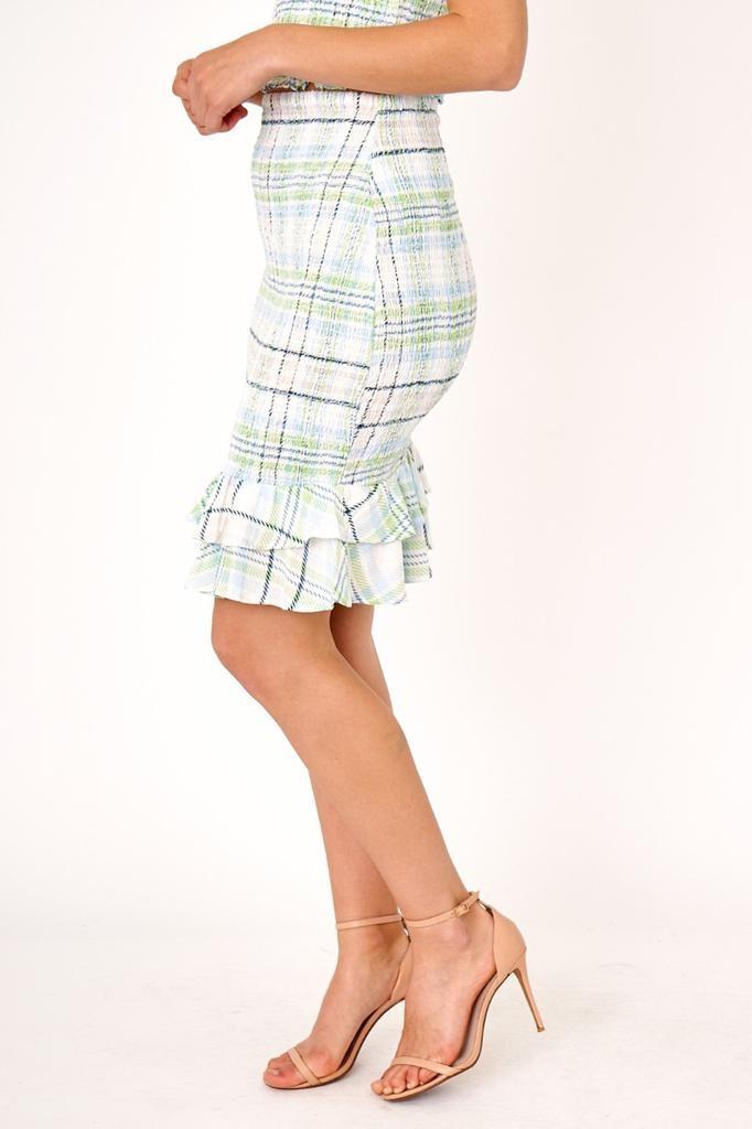 Aurelia  Plaid Midi Skirt