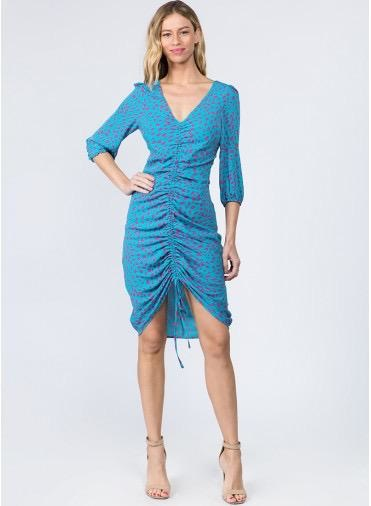 Cheetah Rouched Mini Dress