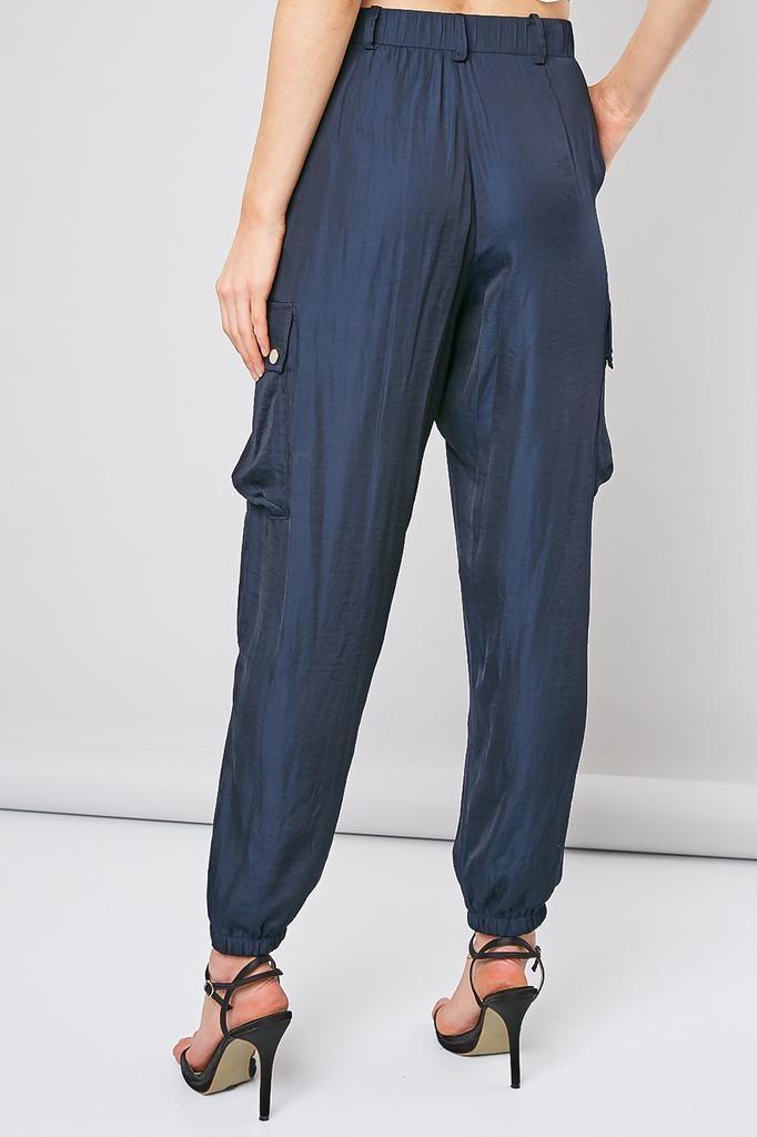 Hiristiana Satin Cargo Pants