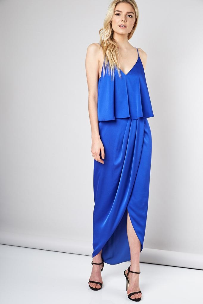 Doris Long Satin Dress