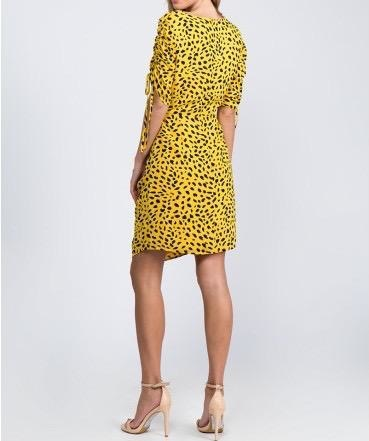 Cheetah Cut Out Mini Dress