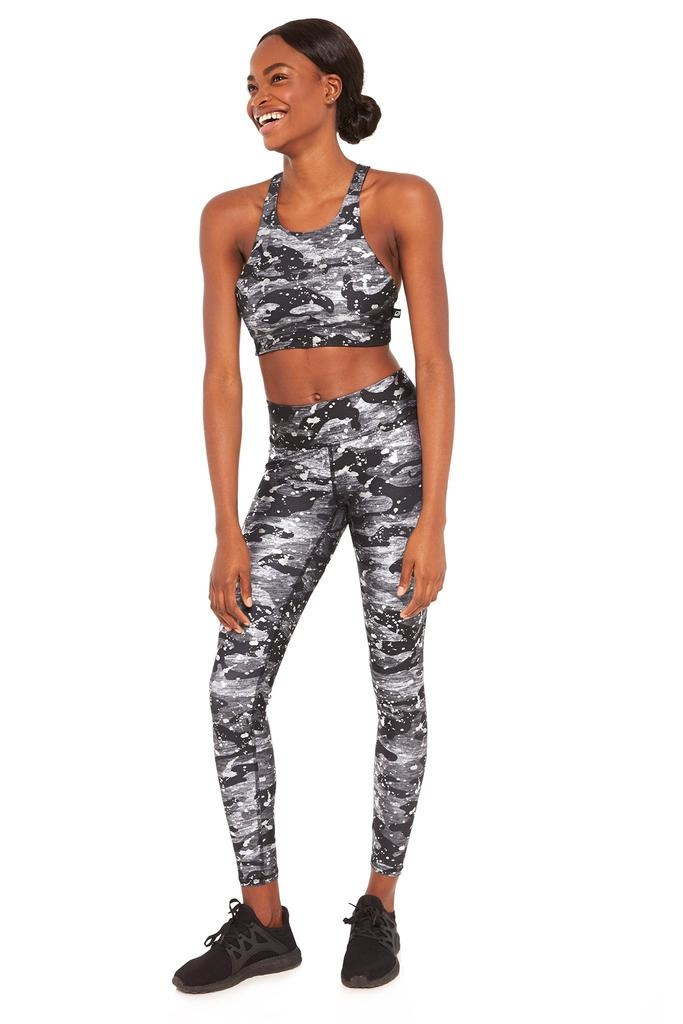 Foil Over Printed Tall Band Legging