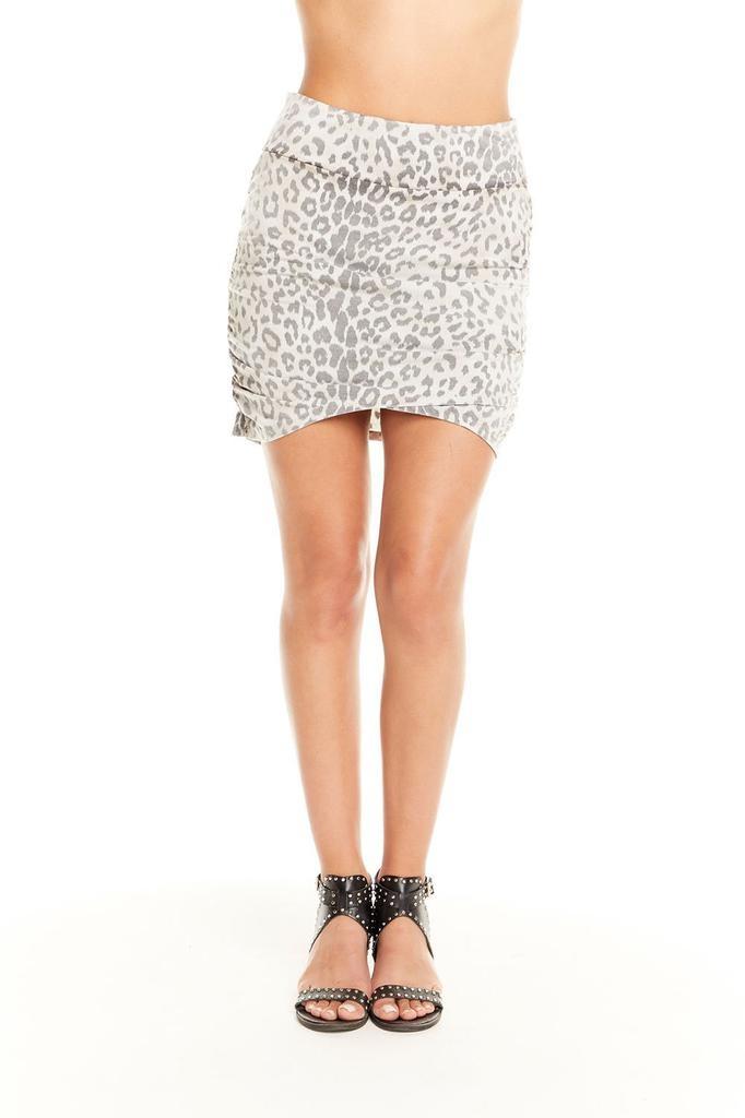Ruched Asymmetrical Mini Skirt
