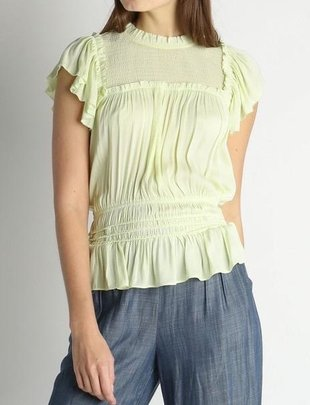Sleeveless Blouse W/Smocked