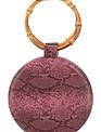 Handbags Snake Print Round Clutch