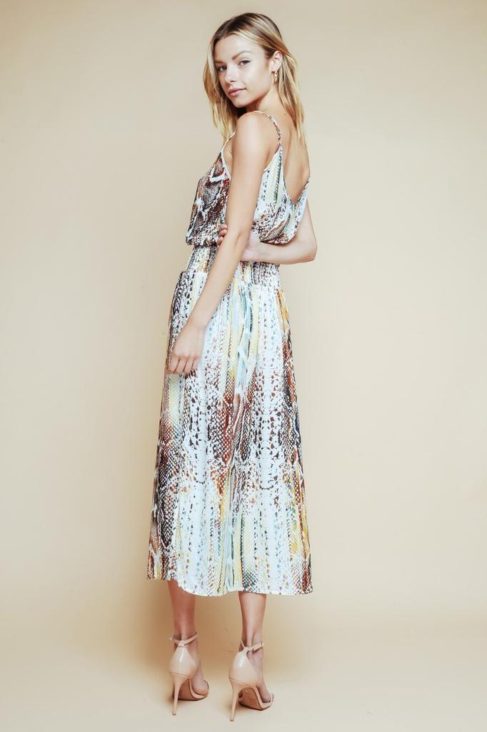 Rainbow Snake Midi Dress