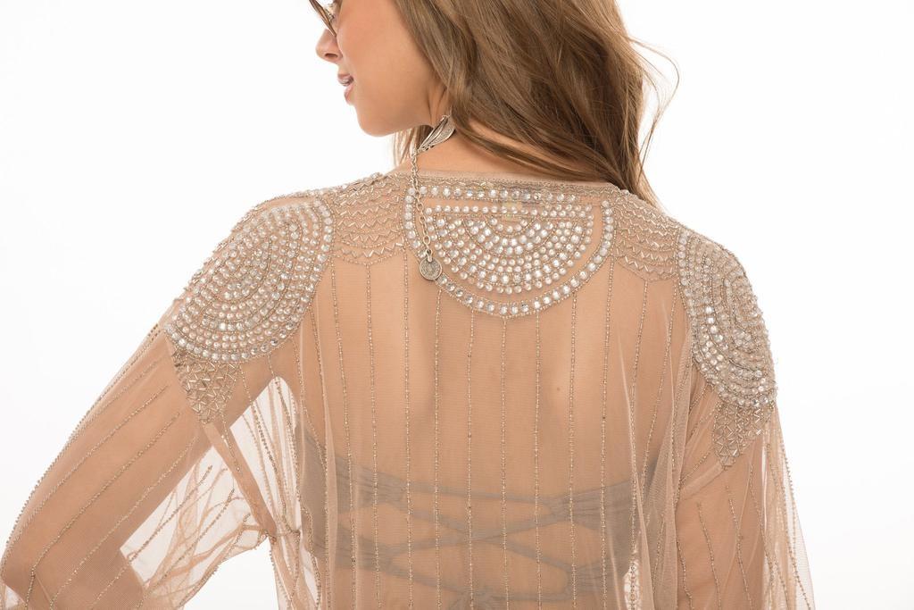 Stellar Crystal Beading Kimono