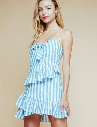Ridley linen Stripe Dress