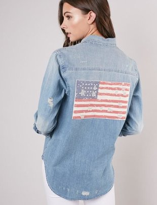 Star & Stripes Denim Shirt