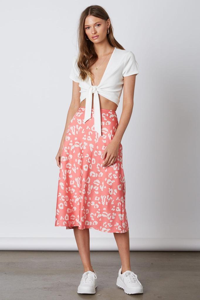 Neon animal Print Maxi Skirt