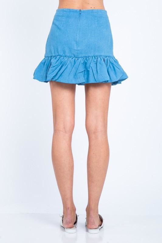 Tilos Ruffle Mini Skirt