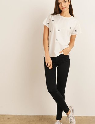 Star Embroidered Tee