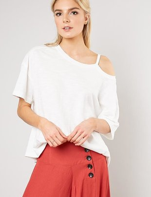 Shoulder Cut Out Tee