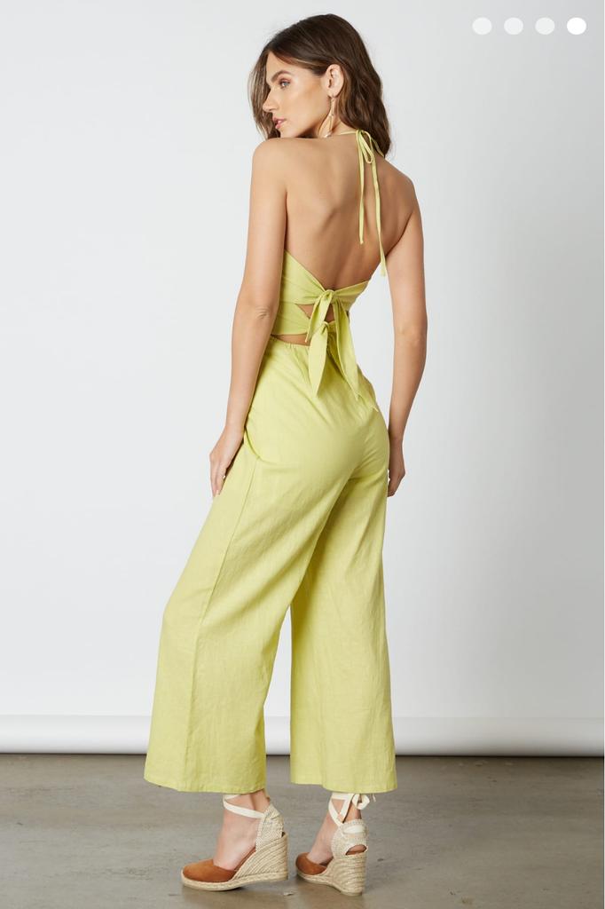 Back tied Linen Jumpsuit