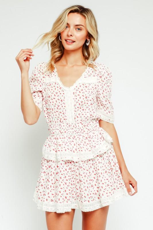 Lace Trim Babydoll Dress
