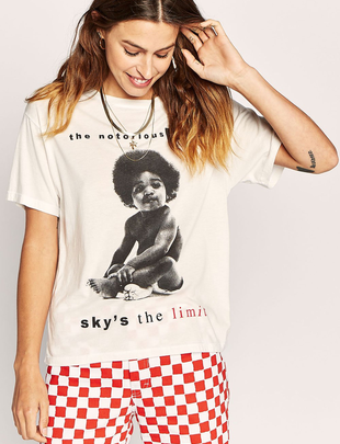 Biggie Sky's The Limit Boyfriend Tee