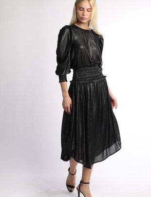 Shimmer Smocked Waist Skirt
