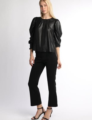 Shimmer Puffy Sleeves Blouse