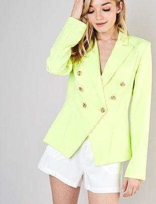 Anahi Gold Button Jacket