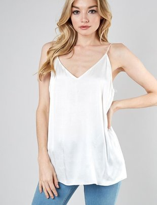 Back Lace Sleeveless Top