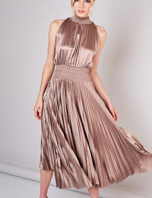 Audrey Pleated Dress
