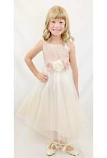 Dress, Satin Bodice w/Tulle Skirt Vintage Rose, Infant