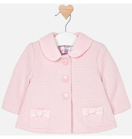 Coat, Detachable Collar, Pink