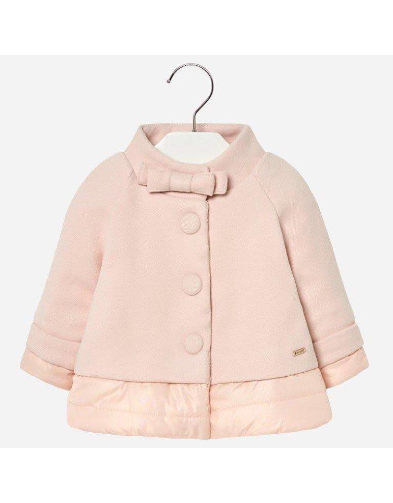 Coat Mock Neck, Pink