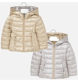 Coat w/Hood, Puffy, Reversible