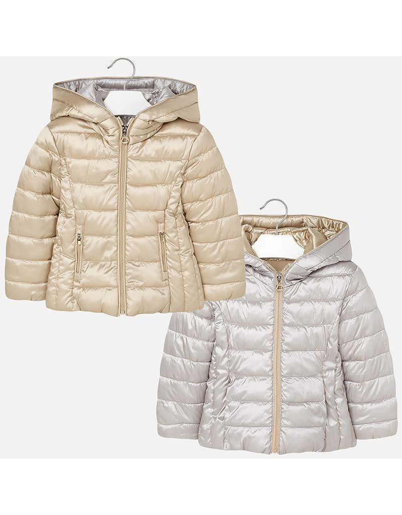 Coat w/Hood, Puffy, Reversible
