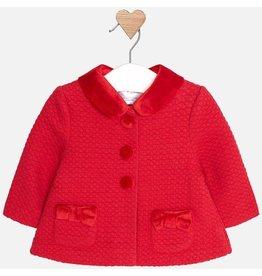 Coat, Detachable Collar, Red