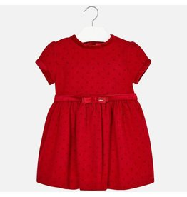 Dress, Contrasting Dots & Trim