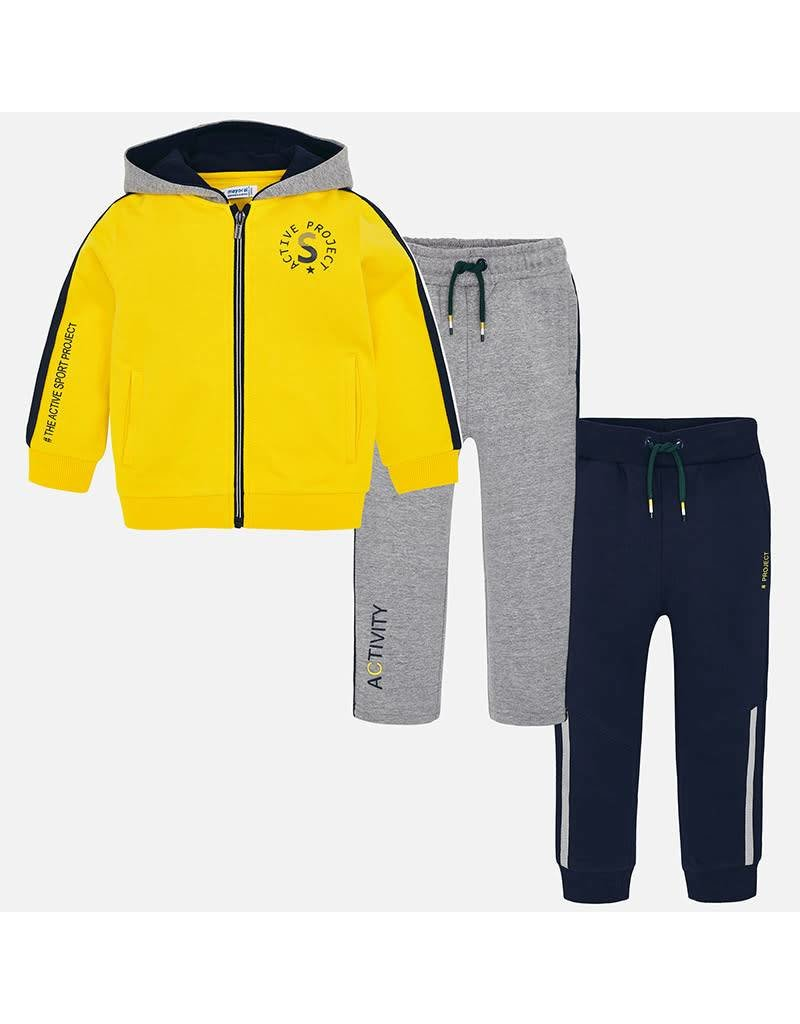 Tracksuit, 3 Piece, Yellow