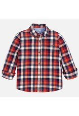 Shirt, L/S, Bengal Orange Plaid