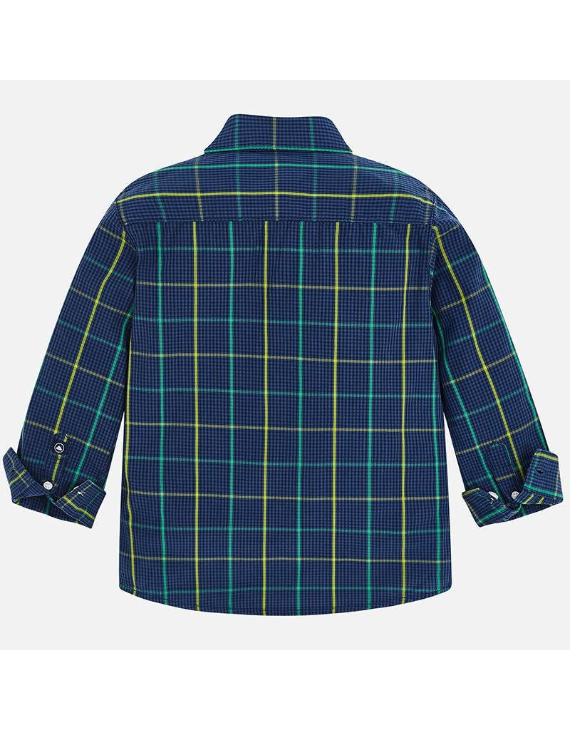 Shirt, L/S, Blue Plaid