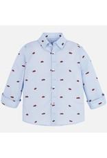 Shirt, L/S, Cars, Sky Blue
