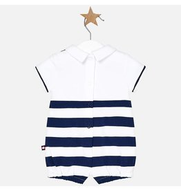 Romper, Airplane, Navy/White,