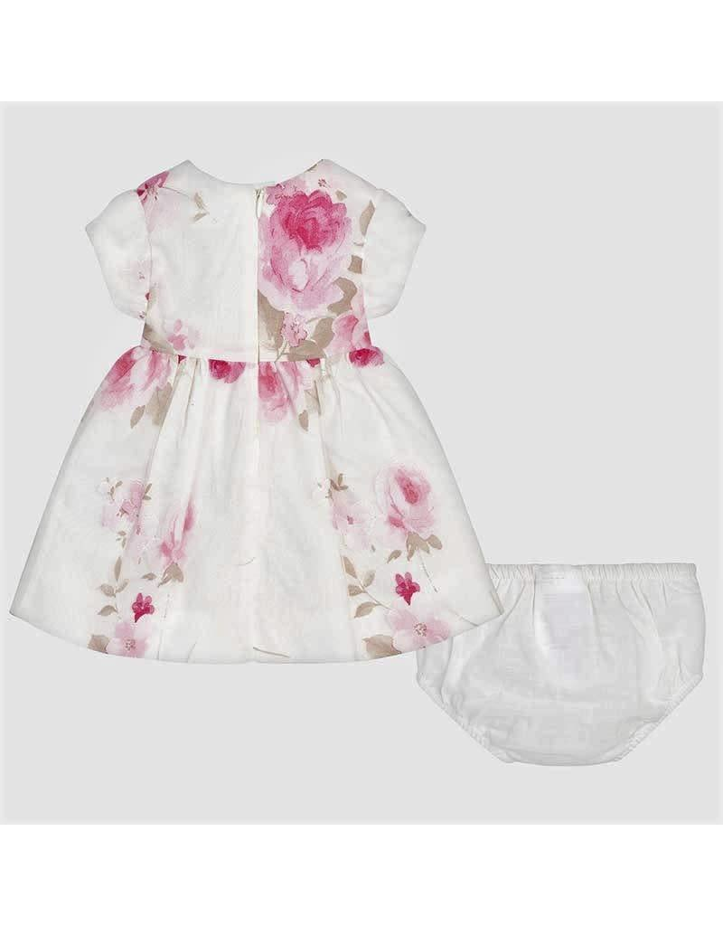 Dress w/Bloomers, Floral Overlay,