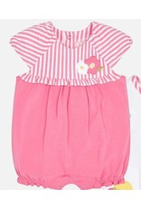 Romper, Melon Stripe/Flower,
