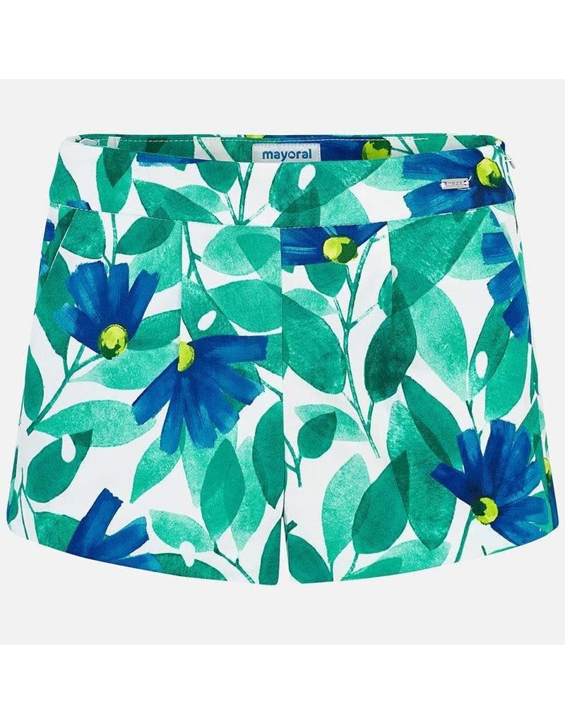 Shirt w/Short, Ruffled, Blue/Green,