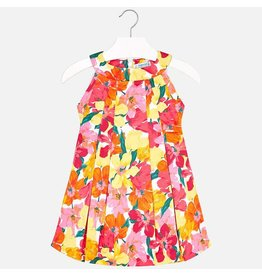 Dress w/Bolero, Red/Yellow Floral,