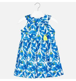 Dress, Blue/Lime Vine,