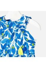 Dress, Blue/Lime Vine,