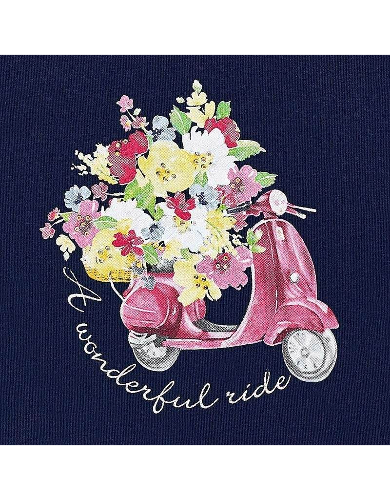 Tee w/Short, Scooter/Flowers,