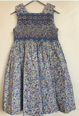 Luli & Me Dress, Smocked, Blue Floral,